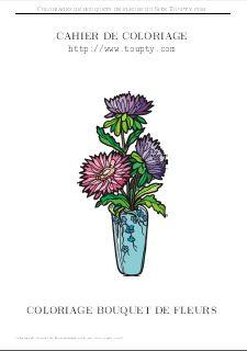 Dessin Coloriage Bouquet De Fleurs.Fleurs Coloriages De Bouquets Gratuits Gif Pdf Toupty Com