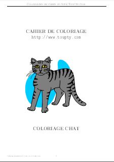 Coloriage Chat Debout.Chat Coloriage A Imprimer De Chats Toupty Com