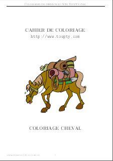 Coloriage Cheval Rigolo.Cheval Coloriage De Cheval A Imprimer Gif Et Pdf Toupty Com