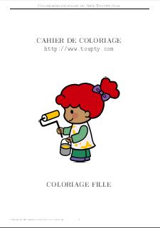 filles album de dessin 3 - Coloriage De Filles