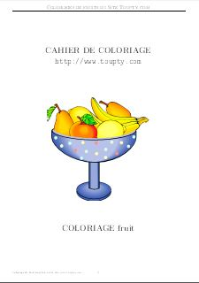 Cahier Coloriage Fruits.Dessins De Fruits A Imprimer Gratuitement
