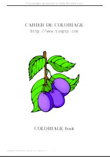 Cahier Coloriage Fruits.Fruit Legume Coloriage De Fruits Legumes A Imprimer Toupty Com