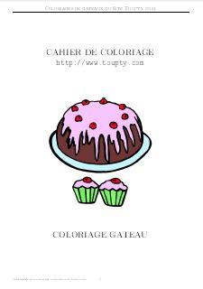 Coloriage Gateau Imprimer.Gateau Coloriage De Gateaux A Imprimer Toupty Com