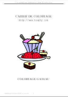 Coloriage A Imprimer Gateau Anniversaire 2 Ans.Gateau Coloriage De Gateaux A Imprimer Toupty Com
