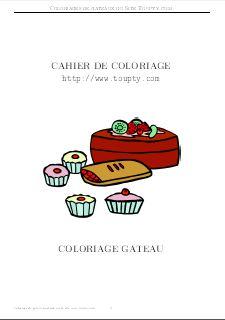 Gateau Coloriage De Gateaux A Imprimer Toupty Com