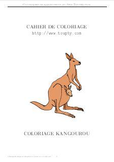 Coloriage Kangourou.Kangourou Coloriages De Kangourous Gratuits Gif Pdf
