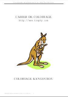 kangourou coloriages de kangourous gratuits gif toupty com