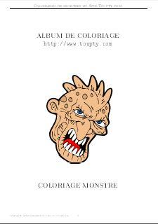 Coloriage Qui Fait Peur Monstre Toupty Com