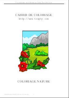 Nature Coloriage De Nature A Imprimer Gratuitement Toupty Com