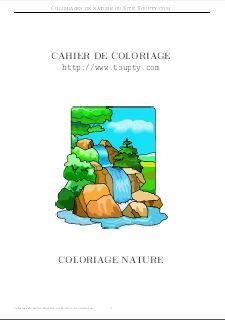Coloriage Garcon Nature.Nature Coloriage De Nature A Imprimer Gratuitement Toupty Com