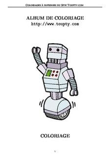 Coloriage Robot Fille.Robots 24 Coloriages De Robots A Imprimer Toupty Com