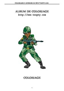 coloriages de dessins de soldats