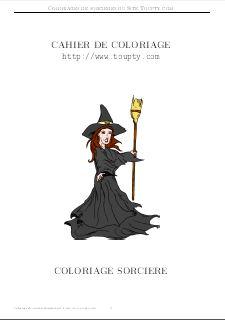 Coloriage qui fait peur monstre - Le jeux de la sorciere qui fait peur ...