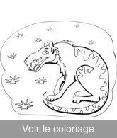 coloriage animal prehistorique rigolo