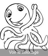 Dessin couleur pieuvre - Pieuvre a colorier ...