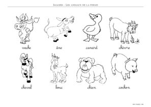 Imagier Animaux De La Ferme A Imprimer Toupty Com