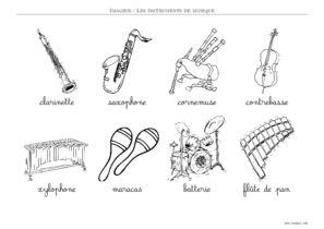 Instrument Imagier Instrument De Musique A Imprimer