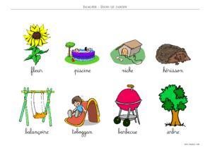 IMAGIER : Objets du Jardin - Imagier a Imprimer Toupty.com