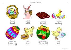 Coloriage De Paques En Anglais.Paques Imagier Paques A Imprimer Toupty Com