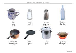 Ustensiles imagiers ustensiles de cuisine - Ustensile de cuisine anglais ...