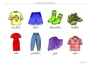 Coloriage Magique Anglais Vetements.Imagier Vetements Imagiers Maternelle A Imprimer Toupty Com