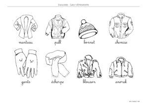 IMAGIER VÊTEMENTS - Imagiers Maternelle à Imprimer - Toupty.com 81b243cfdd38